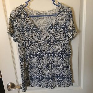 Blue and white Aeropostale top